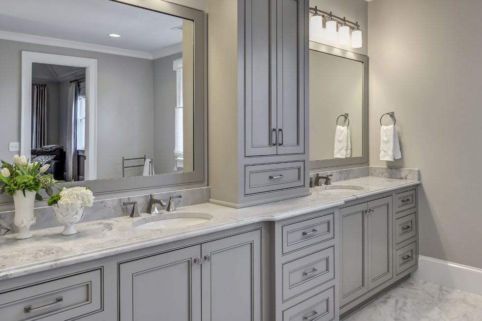 Custom cabinets master bathroom j thomas designs for Bj custom designs