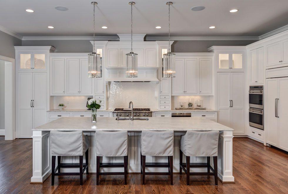 va highland kitchen white marble counters - Highland Kitchen